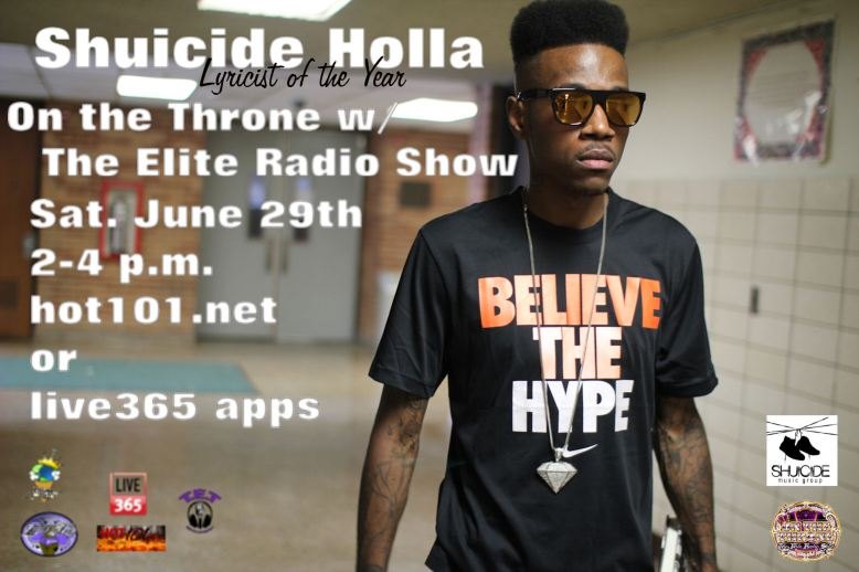 Shuicide Holla flyer