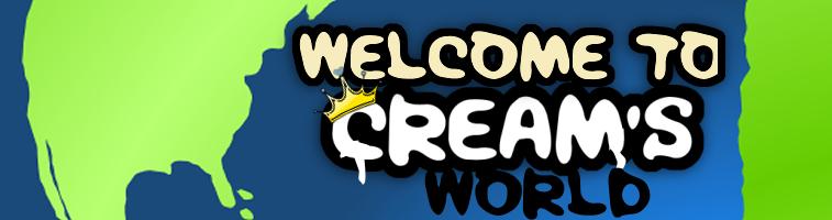 cream banner logo
